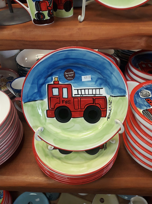 Fire Engine Lunch Plate