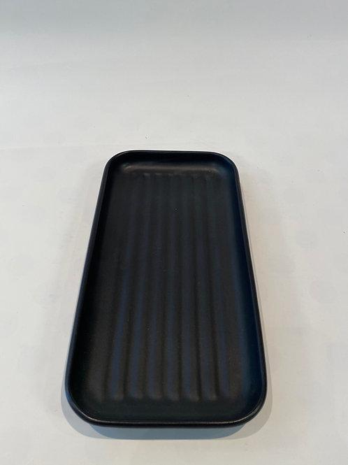 Wave Oblong Platter 26cm, Slate.