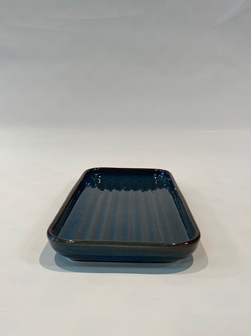 Wave Oblong Platter 26cm, Hazy Blue.