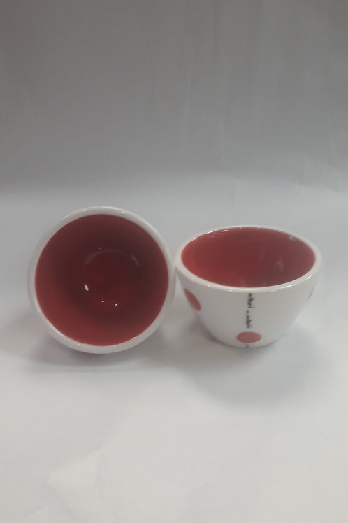 Red dipping bowl