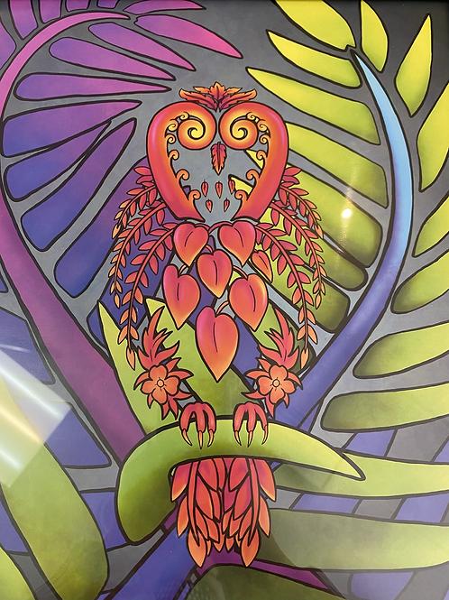 Koru Owl Artwork