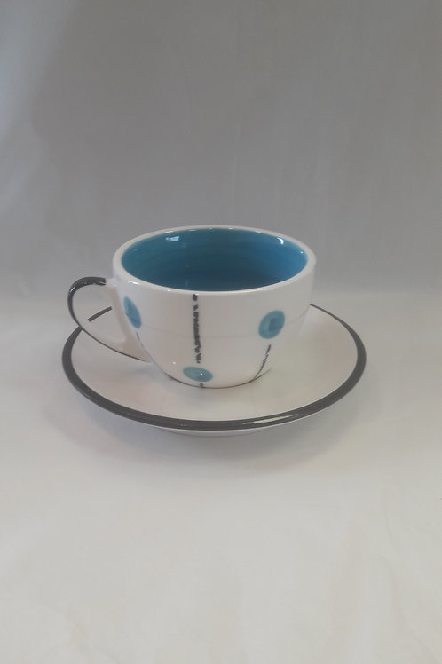 Light Blue Lollipop cup and saucer