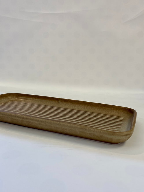 Wave Oblong Platter 32cm, Riverbank.