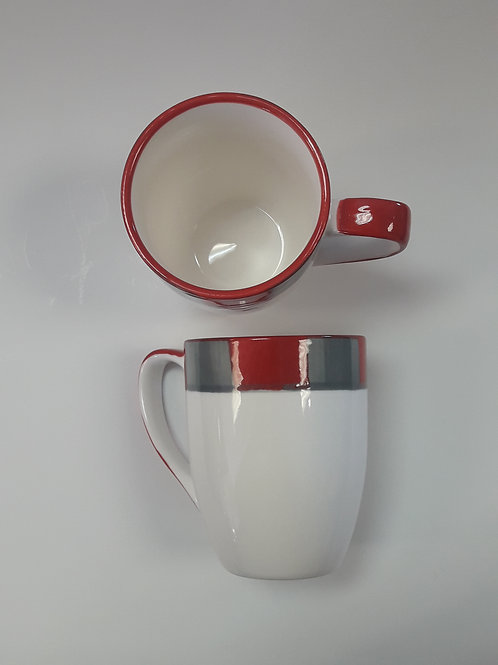 Platinum mug red and grey