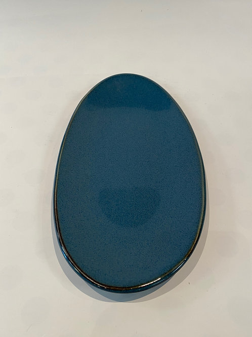 Freedom Oblong Platter 29cm, Hazy Blue.