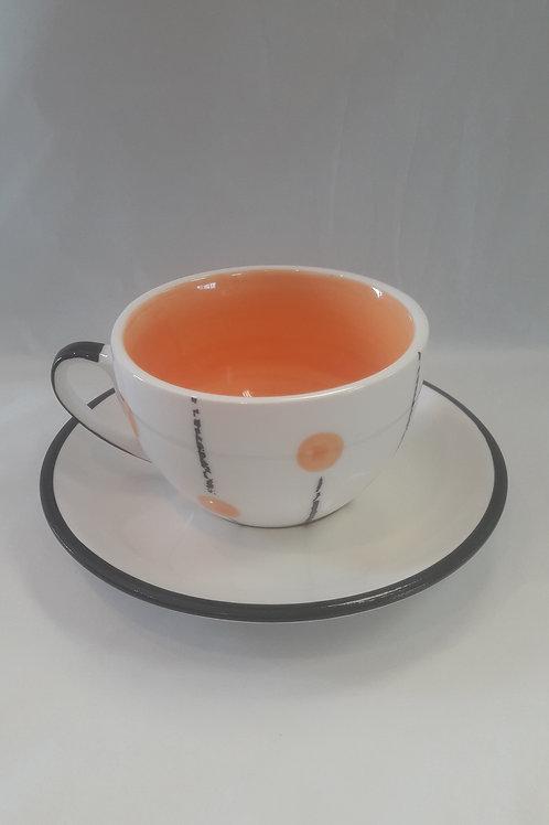 Orange Lollipop cup and suacer