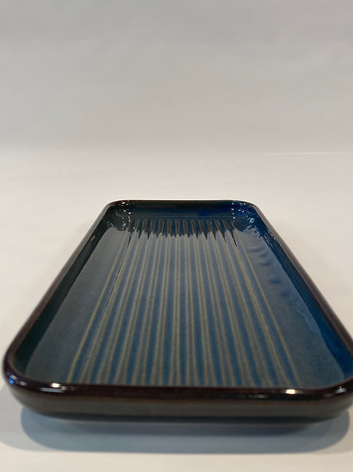 Wave Oblong Platter 32cm, Hazy Blue.