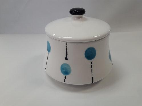 Light Blue Sugar Bowl