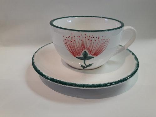 Pohutukawa Cup and saucer set