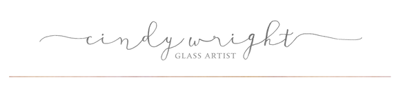 logo signature cindy wright glass artist