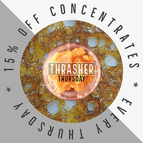 Calling all dabbers! Is your tolerance a little higher than it used to be? Save some green and get your concentrates for 15% off every Thursday!