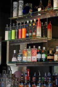 liquor selection close