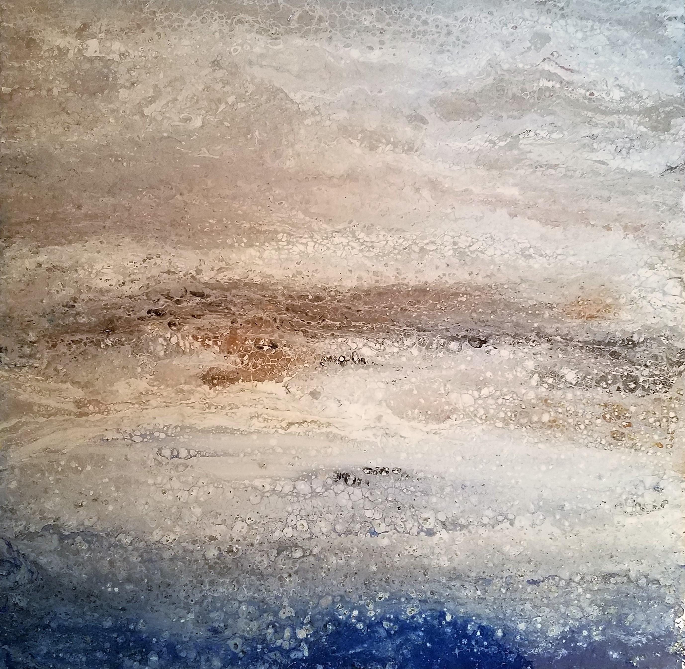 Cliff Walk Fluid Painting