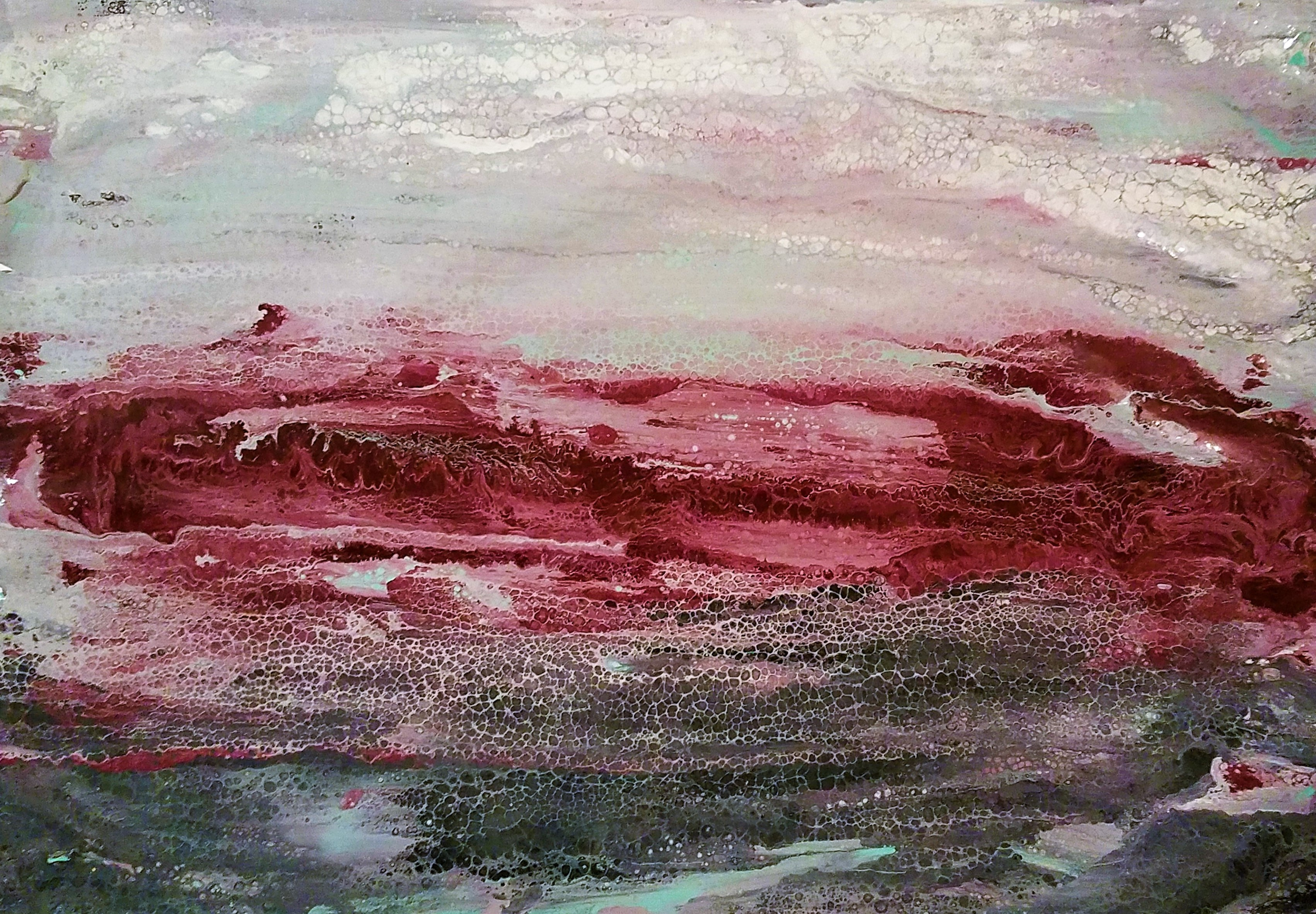 Red Paper Landscape