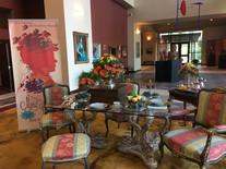 Tea in the lobby