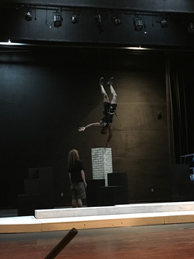 Bert practicing flying