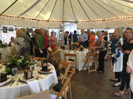 Patron Brunch at Dunaway Garden with student art sale