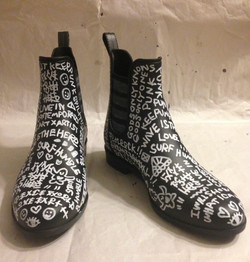 Special order art work boots paint