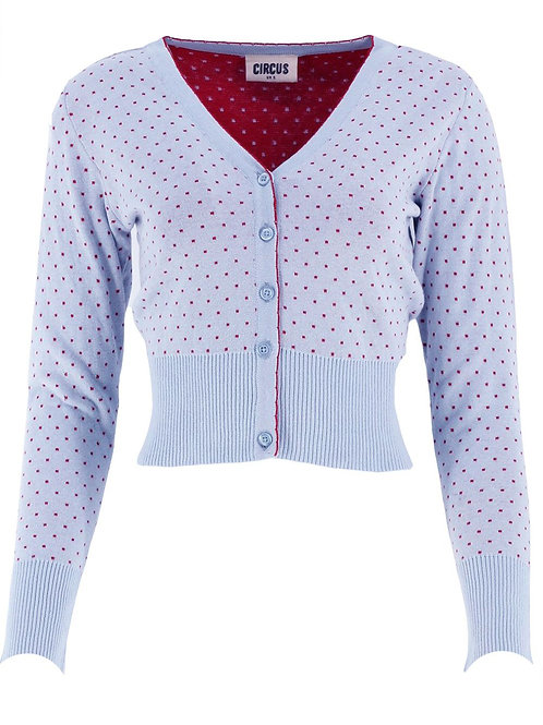 Jacke Pindot Circus Farbe: blue with / red dot