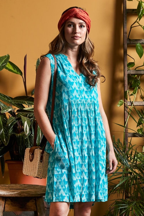 Kleid: Cairo Tunic Dress von Nomads Farbe: Amalfi