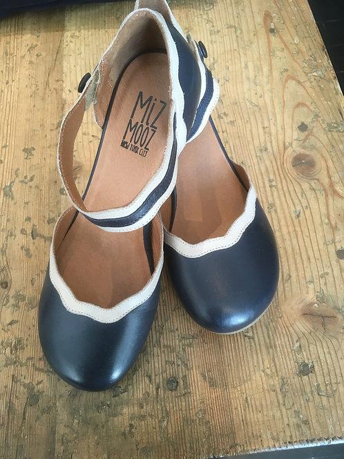 Schuh Troian von Miz Mooz Farbe: Denim mit Cream
