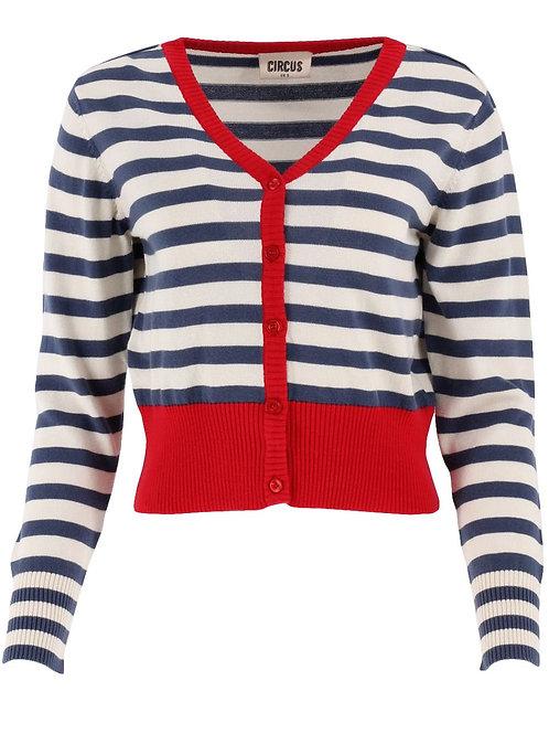 Jacke stripe Farbe: navy/cream