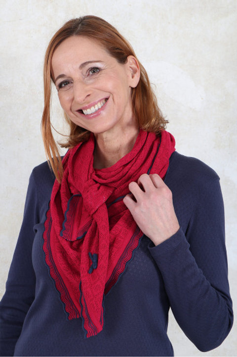 Tuch Lisa von Sorgenfri Farbe:rubin