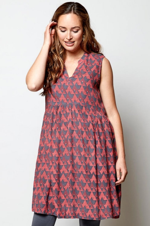 Kleid: Cairo Tunic Dress von Nomads Farbe: Aniseed/Rot
