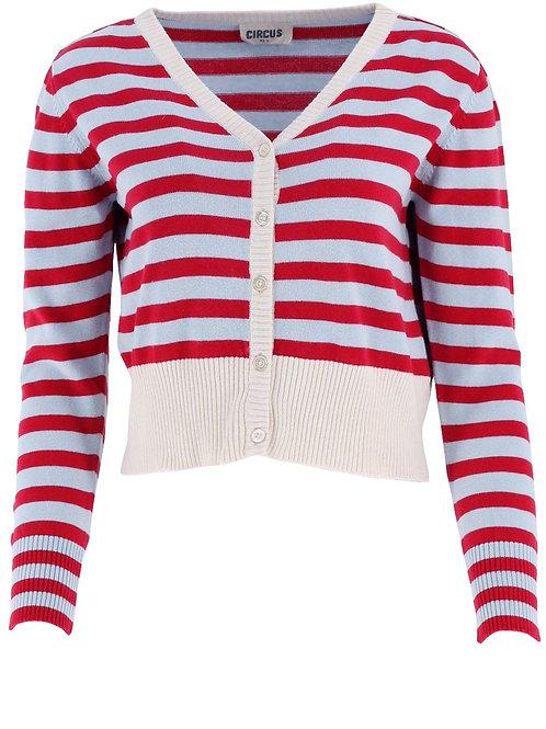 Jacke stripe Farbe: red/light blue