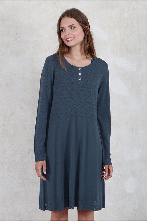 Strickkleid Lorna von Sorgenfri Farbe :blue gray