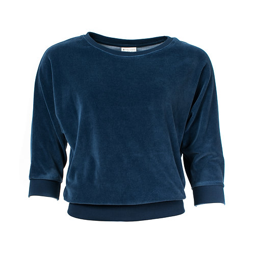 SWEATER SYBILLE VELOUR von Froy and Dind Farbe : Dunkelblau