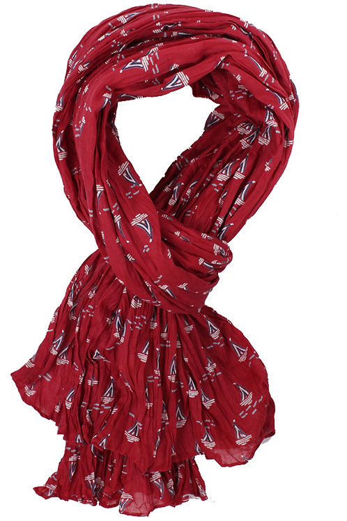 Tuch Selda von Sorgenfri Farbe: Rubin