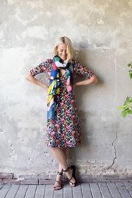 Cross Kleid von Zilch Farbe :bouquet-black