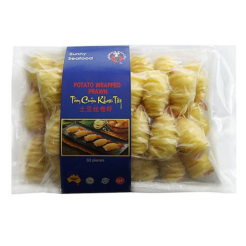 Gluten Free Potato Wrapped Prawns