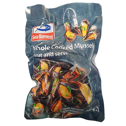 Whole Cooked Black Lip Mussels