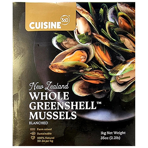 Whole Cooked NZ Mussels