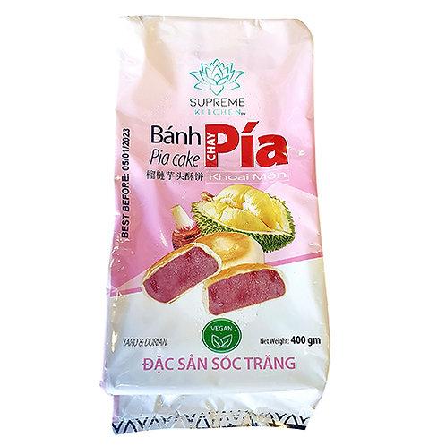 Pia Taro & Durian Cake