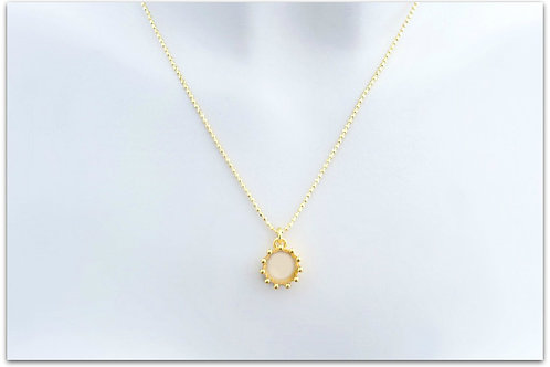 Gold plated sterling silver necklace with crown pendant 0002GPC