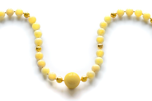 Milk Amber 22K Gold Plated Necklace 0037AMGN