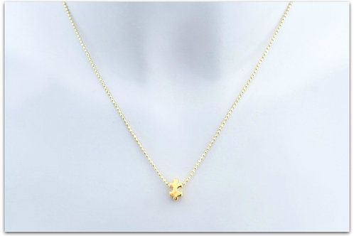 Gold plated sterling silver necklace with puzzle pendant 0005GPC