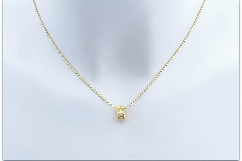 Gold plated sterling silver necklace with ring pendant