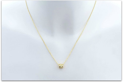 Gold plated sterling silver necklace with ring pendant 0009GPC