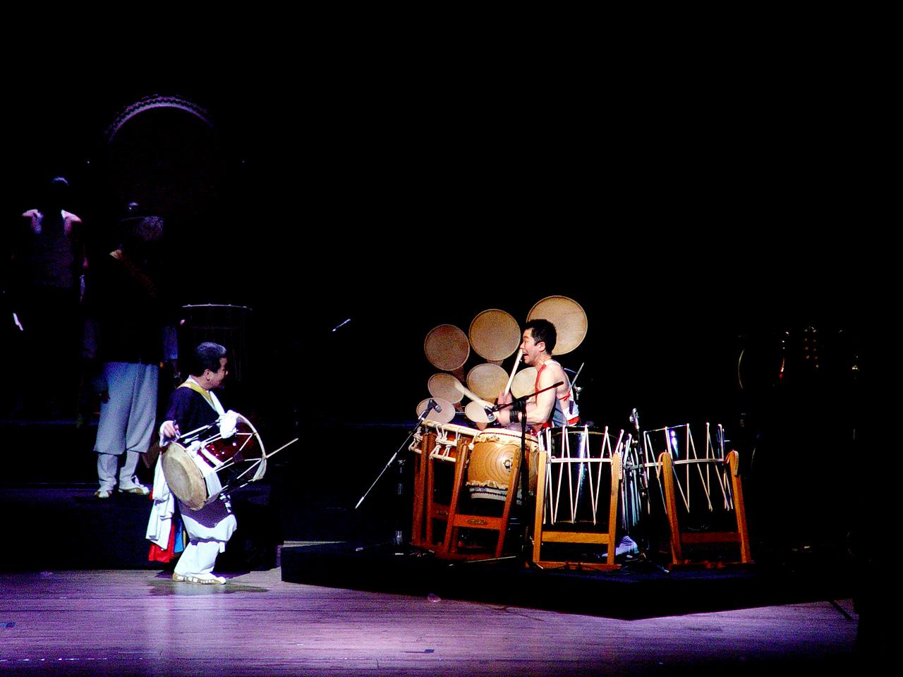 김덕수와 하야시 에데스 2002년국립극장한일음악제
