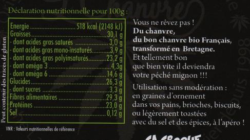 Indications nutritionnelles des graines enitères (ou complètes)