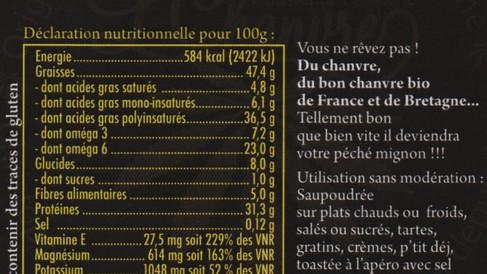 Indications nutritionnelles des graines décortiquées
