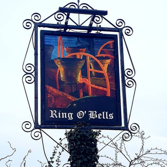 Ring O Bells Hinton Blewett Sign