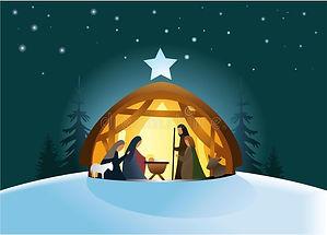 Nativity scene stock vector_ Illustratio