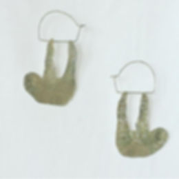 sloth earrings / silve950
