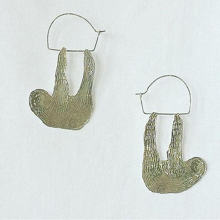sloth earrings / silve950