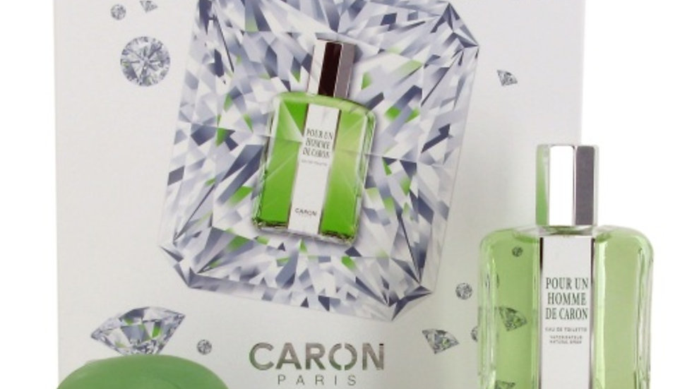 COFANETTO POUR UN HOMME DE CARON  - EdT 125 ml + 2 Saponi